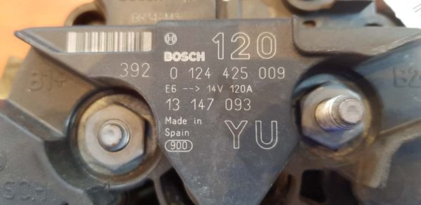 Opel Astra G, Corsa C, Meriva A, Signum, Tigra B, Vectra C, Zafira A generátor
