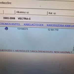 Opel Vectra C kombi karosszéria fő kábelköteg