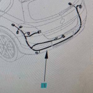 Opel Astra H csomagtér kábelköteg