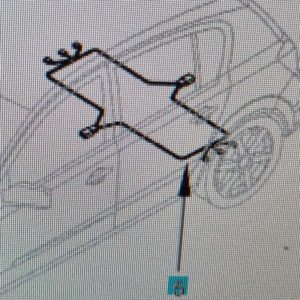 Opel Astra H kombi hátsó ABS jeladó kábelköteg