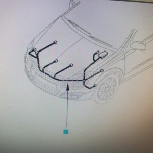 Opel Astra H fényszóró kábelköteg