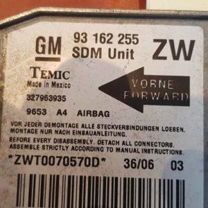 Opel Tigra B légzsákindító