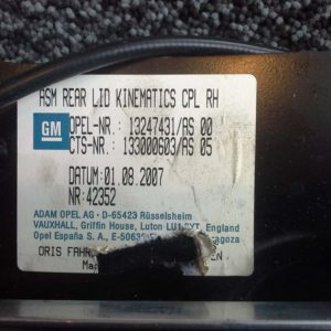 Opel Astra H tető zárszerkezet jobb