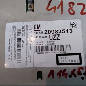 Opel Astra J, Insignia A, Meriva B autórádió / CD fejegység