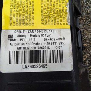 Opel Astra H függönylégzsák bal