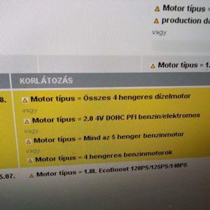 Ford Mondeo V 2.0 Hybrid első bölcső