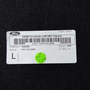 Ford Mondeo V 2.0 Hybrid bal hátsó műanyag csomagtér borítás