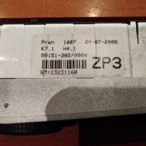 Opel Astra H, Zafira B fűtés / hűtés kapcsoló modul / klíma vezérlő panel