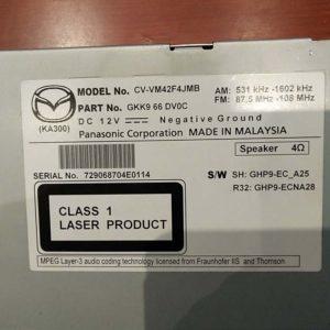 Mazda 6 kombi autórádió / CD fejegység