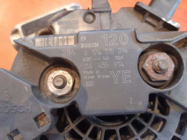 Opel Astra G, Signum, Speedster, Vectra B, Vectra C, Zafira A generátor