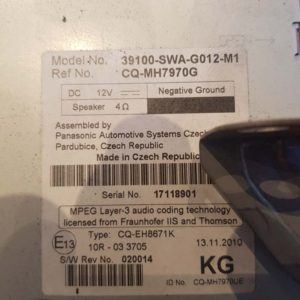 HONDA CR-V III autórádió / CD fejegység