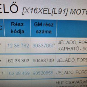 Opel Vectra B, Astra F classic, Corsa C, Tigra A, Astra F, Omega A, Senator B, Astra G, Zafira A főtengely fordulatszám érzékelő