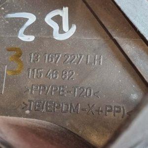 Opel Zafira B levélrács bal záróvég