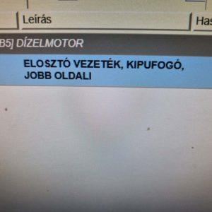 Opel Vectra C kipufogó leömlő jobb