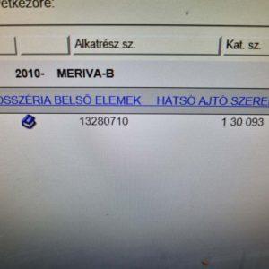 Opel Meriva B bal hátsó felső ajtózsanér