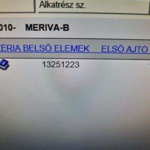 Opel Meriva B jobb első alsó ajtózsanér