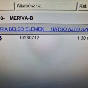 Opel Meriva B bal hátsó alsó ajtózsanér