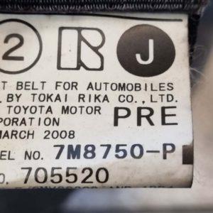 Lexus IS II első biztonsági övpár feszítővel