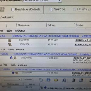 Opel Insignia A, Astra J, Mokka, Zafira C termosztátház