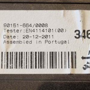 Opel Astra J fűtés vezérlőegység