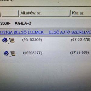 Opel Agila B bal első ajtóhatároló