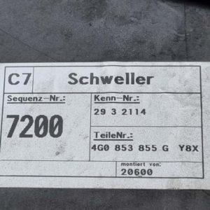 Audi A6 küszöb spoiler pár