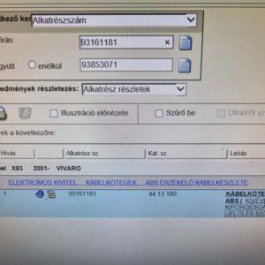 Opel Vivaro A ABS jeladó kábelköteg