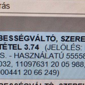 Opel Agila A manuális sebességváltó